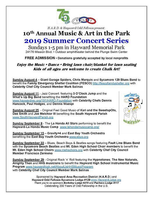 Astounding Rock N Roll For Hhs Music At Hayward Memorial Park Hayward Uwap Interior Chair Design Uwaporg