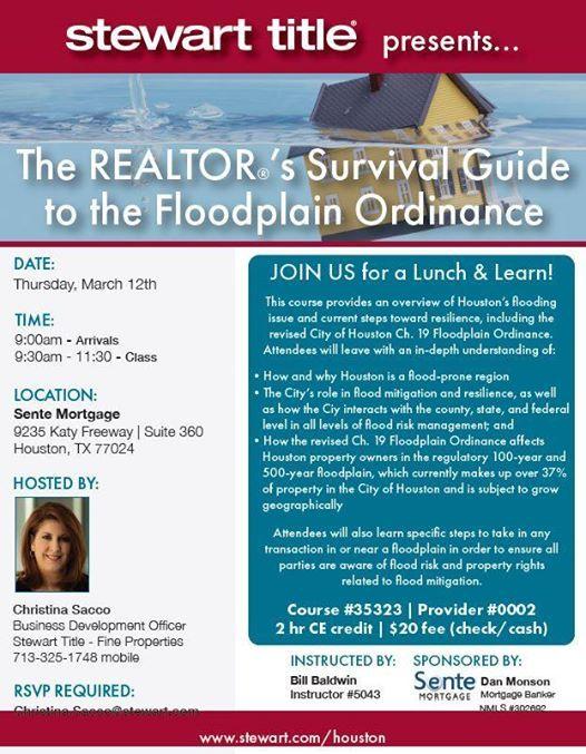 The Realtors Survival Guide to the Floodplain Ordinance