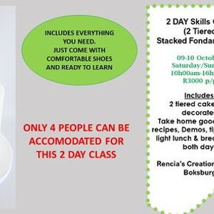 2 Day Skills class (2 Tiered Fondant Cake)