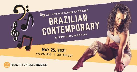 All Abilities Contemporary Brazilian Class, 25 May | Online Event | AllEvents.in