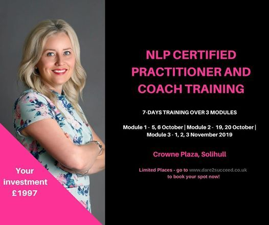 NLP Certifed Practitoner and Coach Training at Crowne Plaza