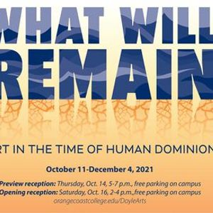 What Will Remain Art in the Time of Human Dominion
