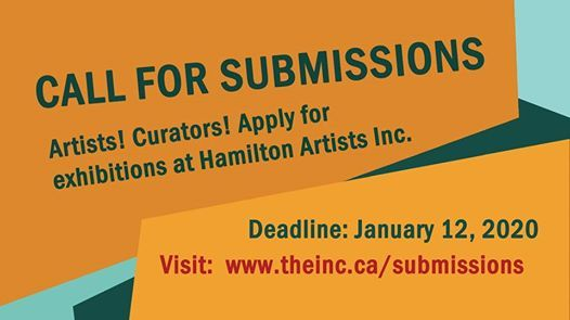Call for Submissions at Hamilton Artists Inc.
