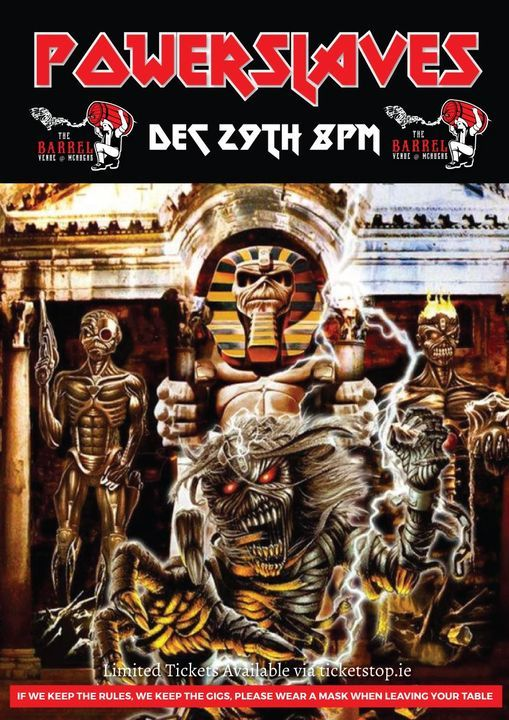 Powerslaves Tribute to Maiden 28/12/20, 28 December | Event in Drogheda | AllEvents.in