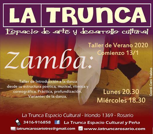 Zamba Inicial Taller De Verano At La Trunca Espacio