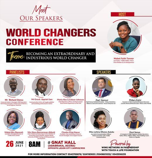 THE WORLD CHANGERS CONFERENCE, 26 June | Event in Accra | AllEvents.in
