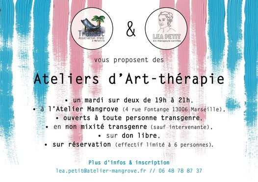 Ateliers d'art-thérapie de Transat, 3 November | Event in Marseille | AllEvents.in