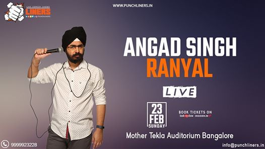 Punchliners Comedy Show ft Angad Singh in Bangalore