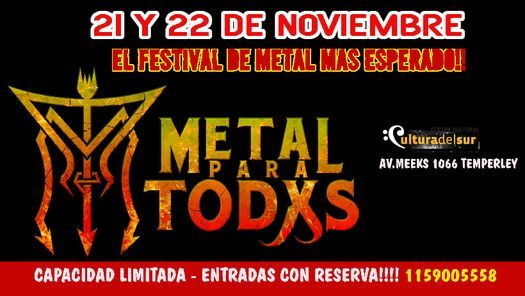 METAL PARA TODXS, 21 November | Event in Temperley | AllEvents.in