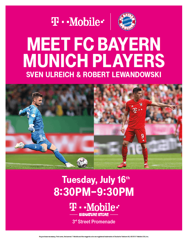 FC Bayern Munich Player Appearance at T-Mobile Santa Monica