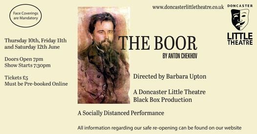 The Boor – A Doncaster Little Theatre Black Box Production, 10 June | Event in Doncaster | AllEvents.in