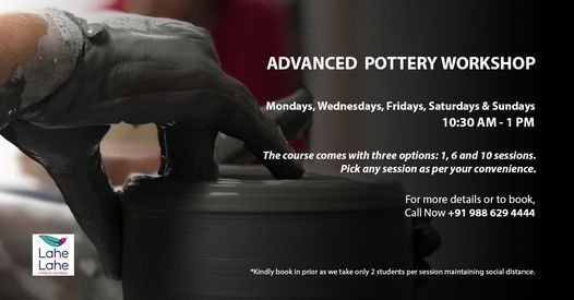 ADVANCED POTTERY WORKSHOP, 12 May | Event in Bangalore | AllEvents.in