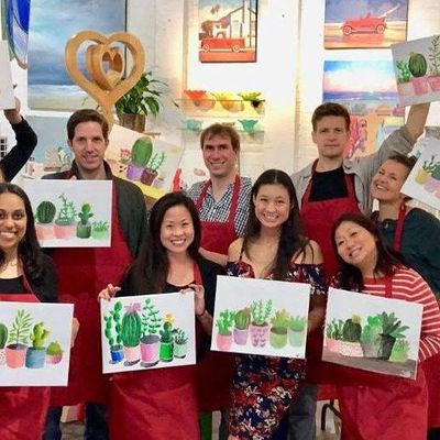 WINE & PAINT at the C
