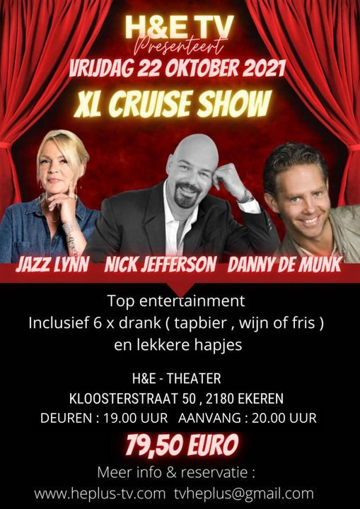 H&E TV XL CRUISE SHOW, 22 October | Event in Antwerp | AllEvents.in