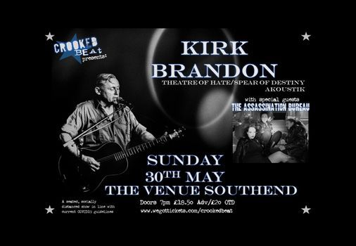 Kirk Brandon Akoustik - Southend The Venue, 30 May | Event in Southend-on-sea | AllEvents.in