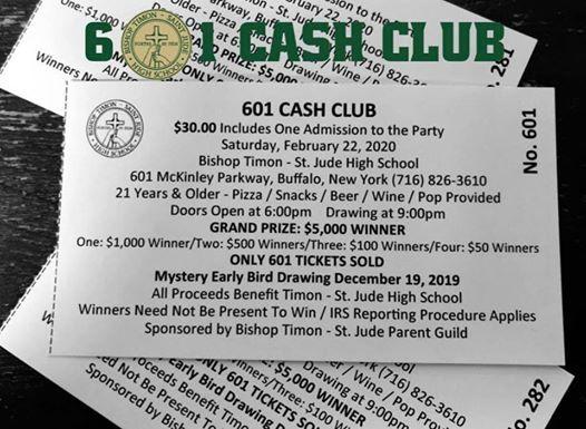 601 Cash Club Raffle