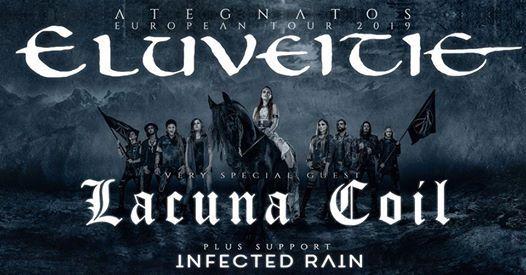 Eluveitie Lacuna Coil Infected Rain  Dornbirn