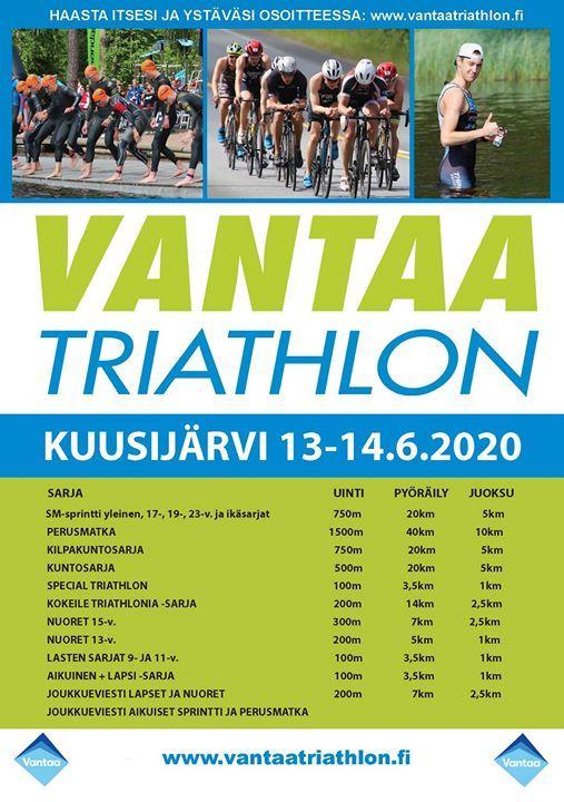 Vantaa Triathlon 15-16.8.2020