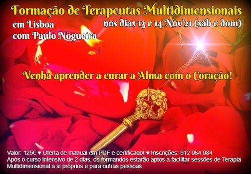 Curso de Terapia Multidimensional em Lisboa em Nov'21, 13 November | Event in Lisbon | AllEvents.in