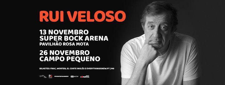 RUI VELOSO // SUPER BOCK ARENA, 13 November | Event in Porto | AllEvents.in