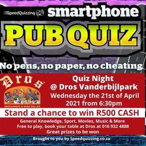 Quiz Night  Dros Vanderbijlpark