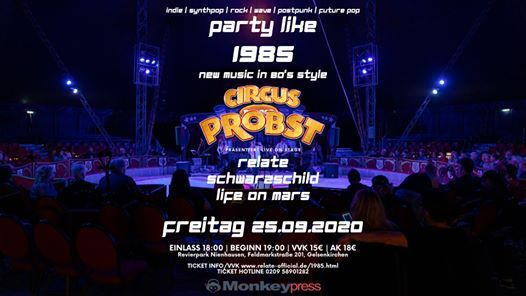 Party Like 1985 - Retro Style Livemusik im Circus Probst