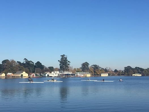 Winter sculling series (week 6 - 4.5km lap of the lake)