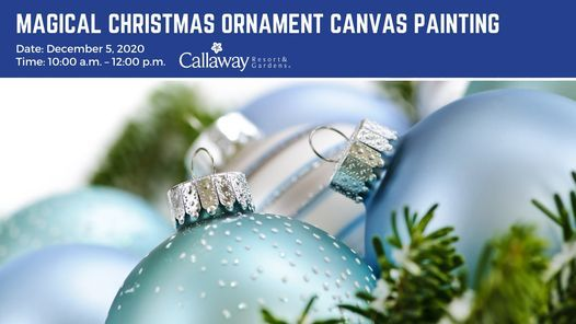 Magical Christmas Ornament Canvas Painting, Callaway Gardens, Pine