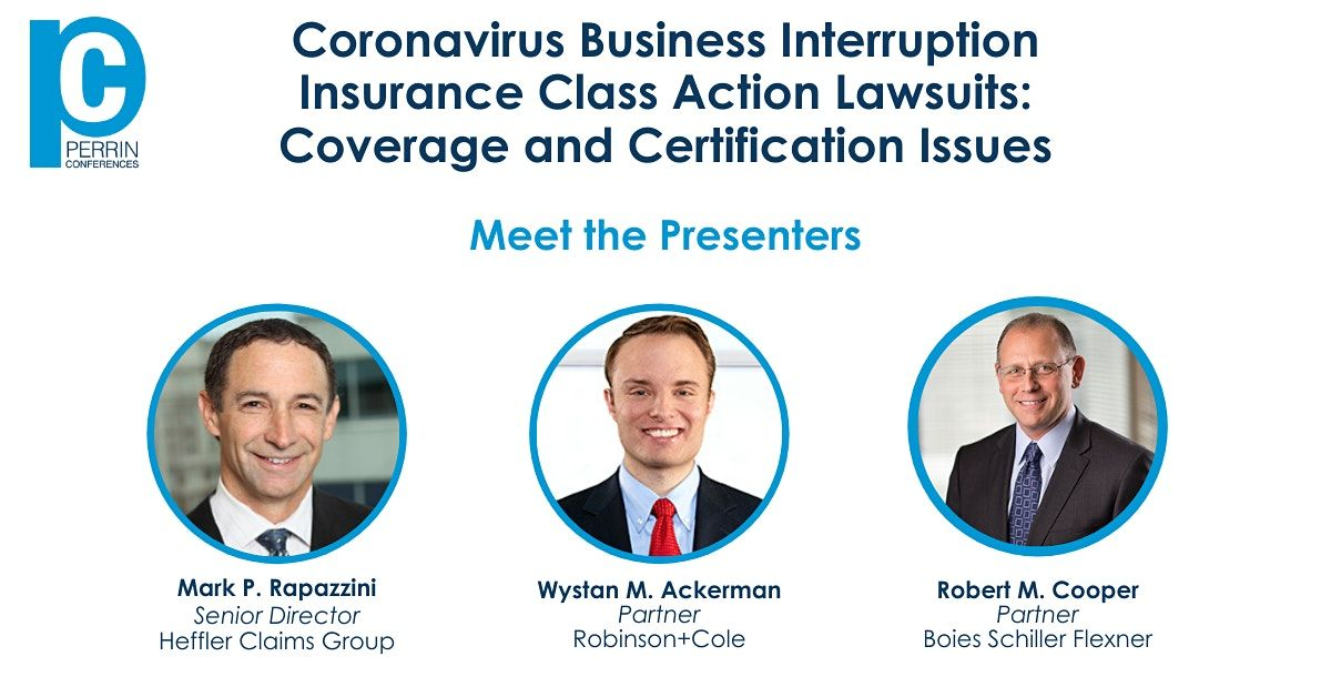 Recorded Webinar  Coronavirus Business Interruption Insurance