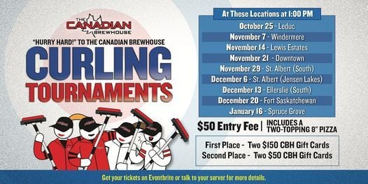 Spruce Grove Patio Curling Tournament, 16 January | Event in Spruce Grove | AllEvents.in