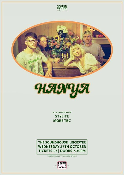 Hanya - The SoundHouse, 27 October | Event in Leicester | AllEvents.in