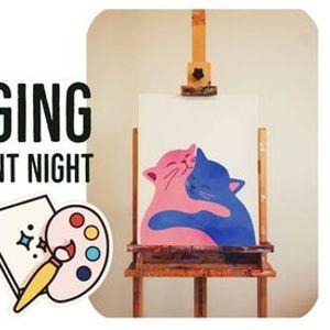 HUGGING CATS  PAINT NIGHT