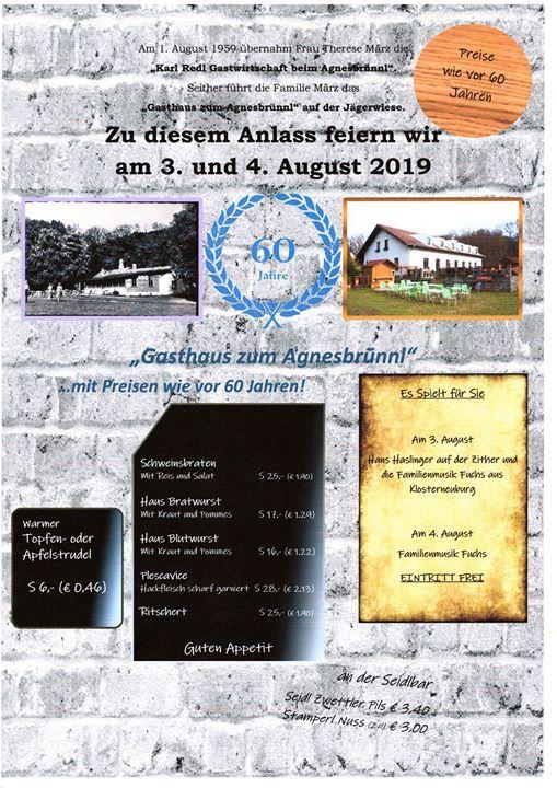 60 Jahre Gasthaus zum Agnesbruennl Familie Maerz