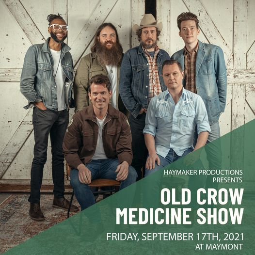 Old Crow Medicine Show Presented by Haymaker Productions, 17 September   Event in Mechanicsville   AllEvents.in