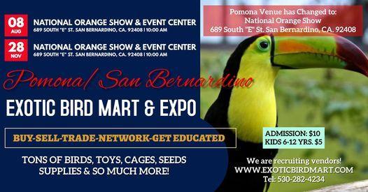 Pomona/San Bernardino Exotic Bird Expo, 8 August   Event in San Bernardino   AllEvents.in