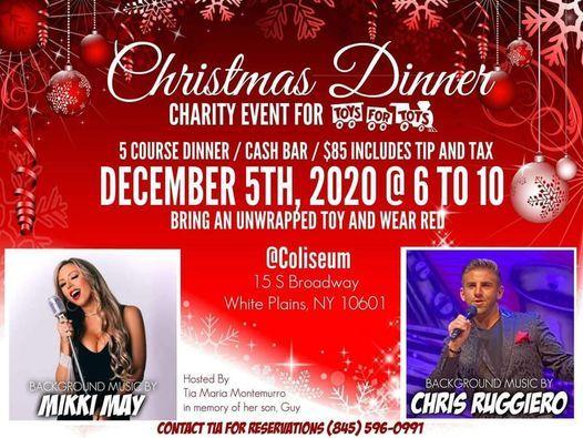 CHRISTMAS DINNER, White Plain's N.Y., White Plains, 5 December 2020