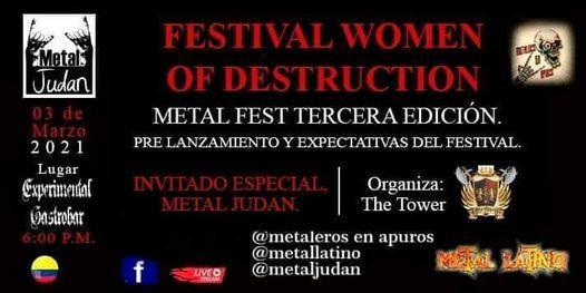 WOMEN OF DESTRUCTION METAL FEST III, 17 April | Event in Bogotá | AllEvents.in
