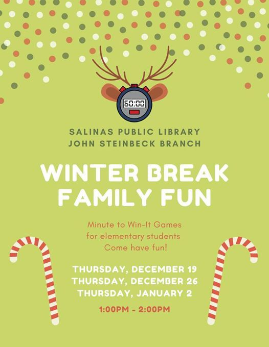 Winter Break Family Fun Minute to Win It Games