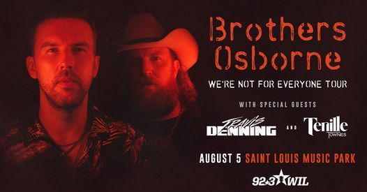 Brothers Osborne Concert with Travis Denning & Tenille Townes, 5 August | Event in Maryland Heights | AllEvents.in