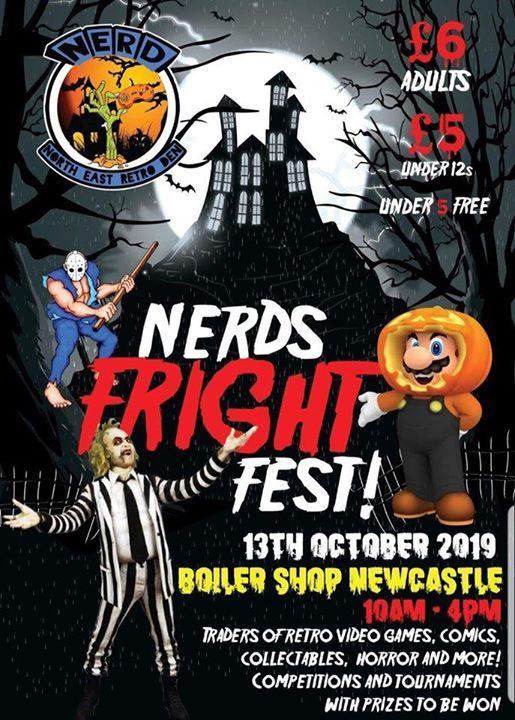 Gloriously Geek at NERD Fright Fest Boiler Shop Newcastle