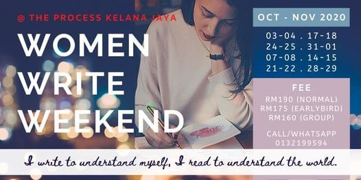 WOMAN WRITE WEEKEND OCT-NOV 2020 | Event in Petaling Jaya | AllEvents.in