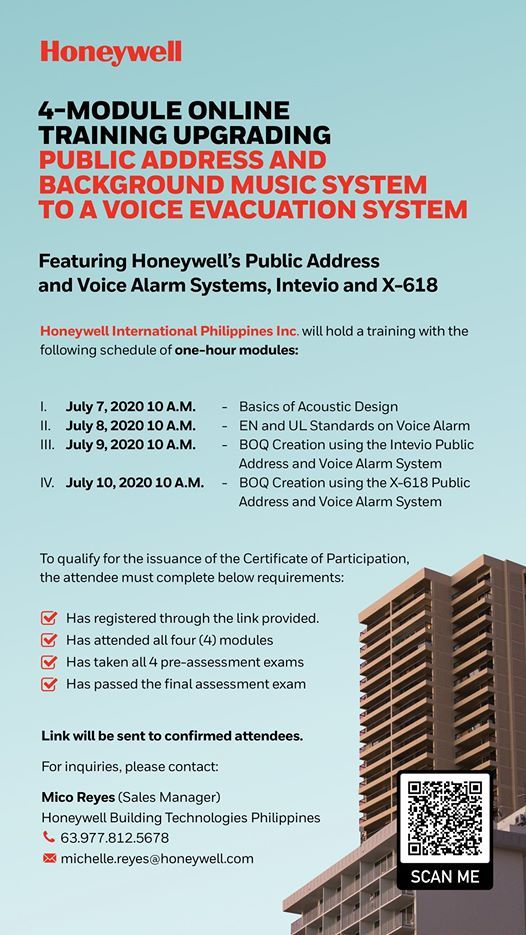 Free Online Training Public Address And Voice Alarm System At Join Event Online Event