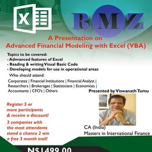 Advanced Financial Modeling with Excel (VBA) at Nipam, Windhoek