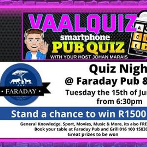 VaalQuiz Quiz Night  Faraday Pub and Grill
