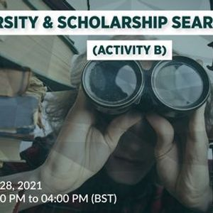 University & Scholarship Search Process