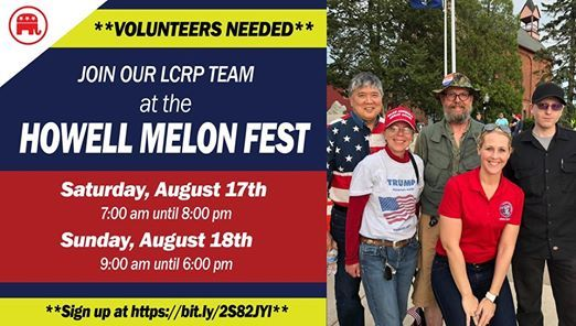 Volunteer At The Lcrp Booth At The Howell Melon Fest Howell