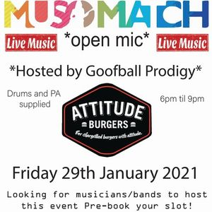 Musomatch Open Mic at Attitude Burgers