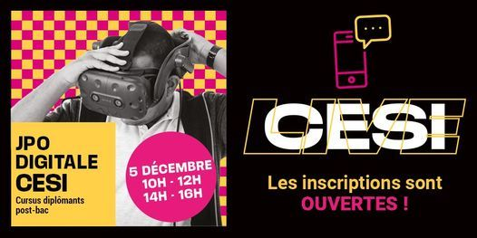 PORTES OUVERTES DIGITALES CESI BREST, 5 December | Event in Brest | AllEvents.in