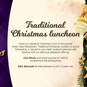 Christmas Lunch in Green Haus Restaurant K190pp
