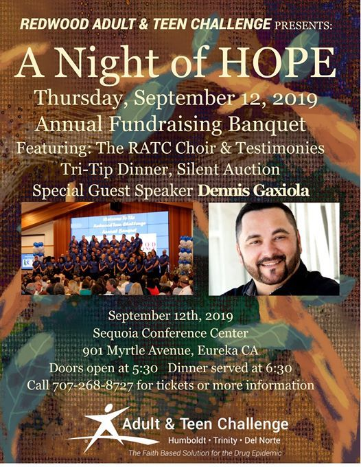 A Night of Hope- fundraising banquet at Sequoia Conference